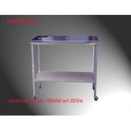 BANCO DA LAVORO CON PIANO INOX DA CM. 130 X 80